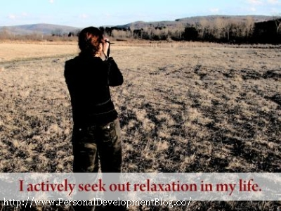 I Actively Seek Out Relaxation In My Life Inspirational Wallpaper | Inspirational Poster | Motivational Poster | Motivational Wallpaper | Inspirational Quote | Motivational Quote