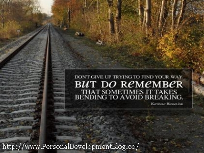 Don't Give Up Trying To Find Your Way. But Do Remember That Sometimes It Takes Bending To Avoid Breaking. - Katinka Hesselink Inspirational Wallpaper | Inspirational Poster | Motivational Poster | Motivational Wallpaper | Inspirational Quote | Motivational Quote