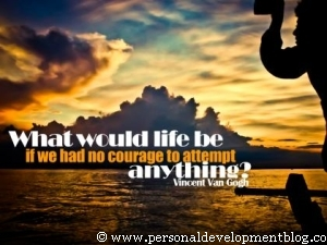 What Would Life Be If We Had No Courage To Attempt Anything | Vincent Van Gogh | Personal Development Inspirational Wallpaper | Inspirational Poster | Motivational Poster | Motivational Wallpaper