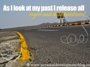 As I Look At My Past I Release All Regrets And Disappointments Inspirational Wallpaper | Personal Development Inspirational Wallpaper | Inspirational Poster | Motivational Poster | Motivational Wallpaper