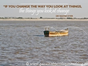 If You Change The Way You Look At Things, The Things You Look At Change by Wayne Dyer Inspirational Wallpaper | Personal Development Inspirational Wallpaper | Inspirational Poster | Motivational Poster | Motivational Wallpaper