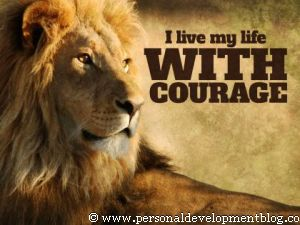 I Live My Life With Courage Inspirational Wallpaper | Personal Development Inspirational Wallpaper | Inspirational Poster | Motivational Poster | Motivational Wallpaper