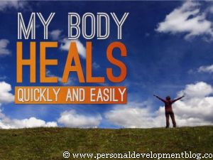 My Body Heals Quickly And Easily Inspirational Wallpaper | Personal Development Inspirational Wallpaper | Inspirational Poster | Motivational Poster | Motivational Wallpaper