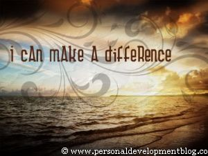 I Can Make A Difference Inspirational Wallpaper | Personal Development Inspirational Wallpaper | Inspirational Poster | Motivational Poster | Motivational Wallpaper