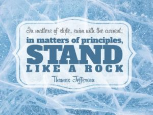 Personal Development Poster (In Matters of Principles, Stand Like A Rock!)