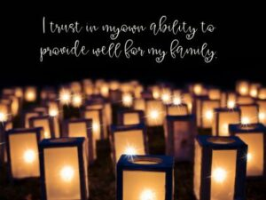 Provide Well For My Family Inspirational Wallpaper