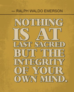 Mind Integrity by Ralph Waldo Emerson