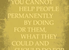 Helping People by Abraham Lincoln
