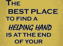 Finding A Helping Hand by Swedish Proverb
