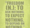 Freedom by Ayn Rand
