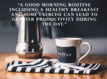 Productive Morning courtesy by Personal Development Blog