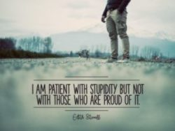 With Stupidity by Edith Sitwell (Inspirational Downloads)