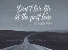 Life In The Past Lane by Samantha Ettus Inspirational Quote Poster