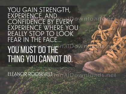 Do The Things You Cannot by Eleanor Roosevelt