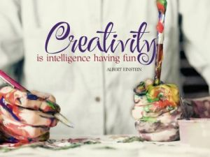 Creativity Is Intelligence by Albert Einstein Inspirational Downloads Inspirational Quote Poster