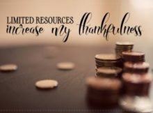 Limited Resources Increase My Thankfulness by Positive Affirmations