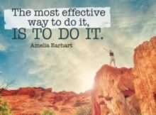 Most Effective Way To Do by Amelia Earhart Inspirational Downloads Inspirational Quote Poster
