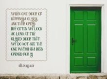 Door Of Happiness by Helen Keller Inspirational Quote Poster