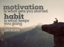 Motivation And Habit by Jim Rohn Inspirational Quote Poster