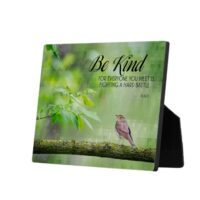 Be Kind Photo Plaque by Plato