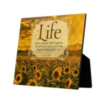 Life Is How You Respond Photo Plaque by Lou Holtz