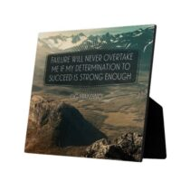Failure Will Never Overtake Me Custom Photo Plaque by Og Mandino