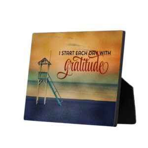 Start Each Day With Gratitude Custom Positive Affirmation Photo Plaque