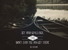 Set Your Goals High Inspirational Quote by Bo Jackson