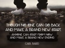 Make A Brand New Ending Inspirational Quote by Carl Bard