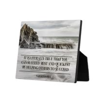 Succeed Best And Quickest Custom Photo Plaque by Napoleon Hill