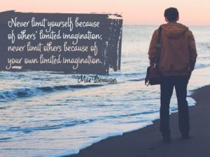 The Never Limit Yourself Inspirational Quote by Mae Jemison