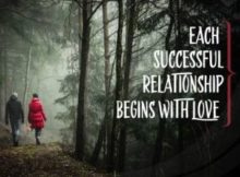 Successful Relationship Begins With Love Inspirational Quote by Inspiring Thoughts