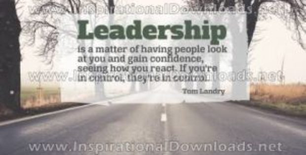 Leadership by Tom Landry Inspirational Poster