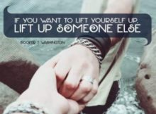 Lift Up Someone Else Inspirational Quote by Booker T. Washington Inspirational Poster