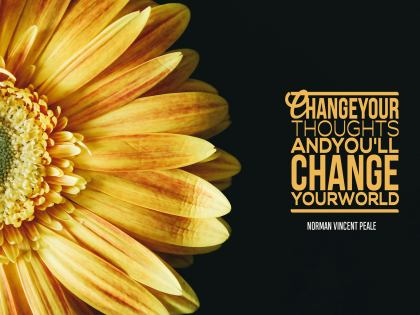 Change Your Thoughts Inspirational Quote by Norman Vincent Peale Inspirational Poster