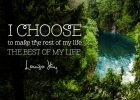 The Best Of My Life Inspirational Quote by Louise Hay