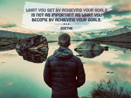What You Become Inspirational Quote by Goethe Inspirational Poster