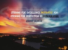 Striving For Excellence Inspirational Quote by Harriet Braiker