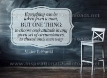 Choose One's Own Way Inspirational Quote by Viktor Frankl