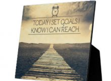 Set Goals Plaque