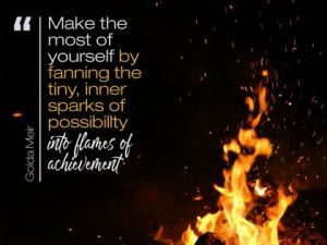 Make The Most Of Yourself  Inspirational Quote by Golda Meir