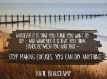 You Can Do Anything Inspirational Quote by Katie Beauchamp Inspirational Picture