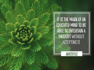 Mark Of An Educated Man Inspirational Quote by Aristotle Inspirational Picture