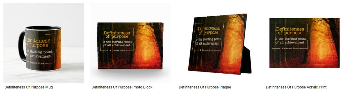 Definiteness of Purpose by W. Clement Stone Customized Products