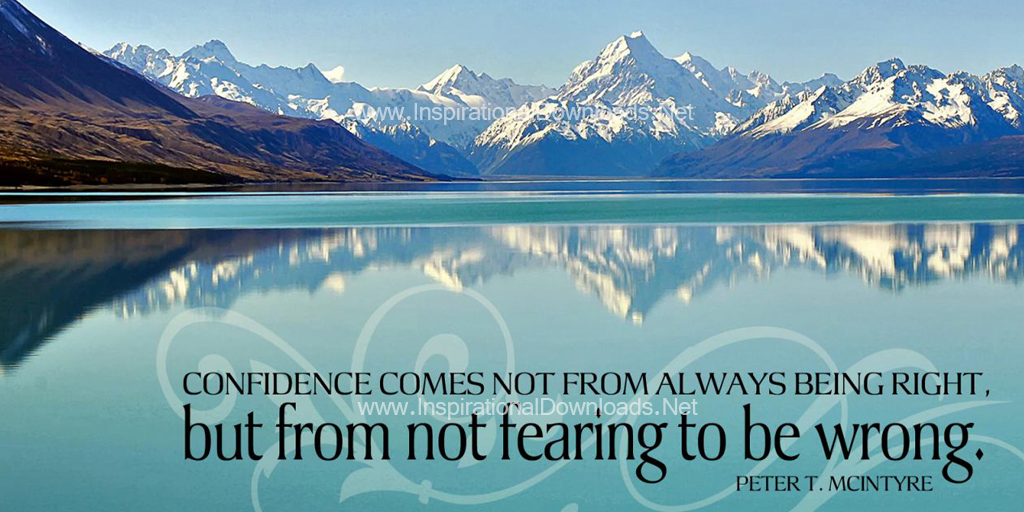 Not Fearing To Be Wrong by Peter McIntyre Inspirational Thought Graphic