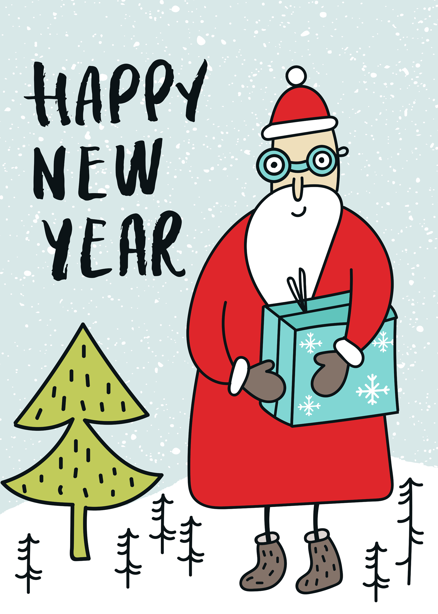 New Year Greetings Ecard