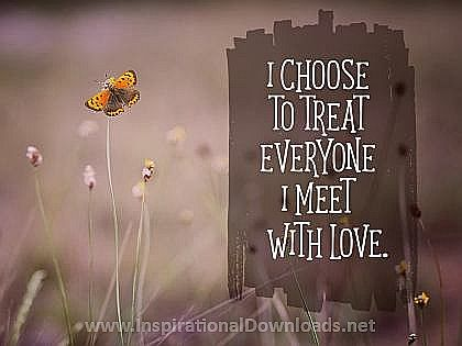 Treat Everyone with Love Inspirational Poster (2069-Love)