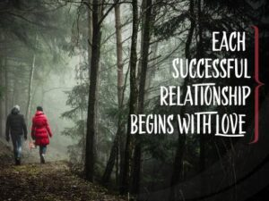 Successful Relationship Begins With Love Inspirational Wallpaper
