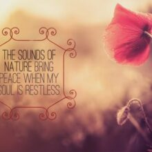 Sounds of Nature Bring Peace Printable Wall Art