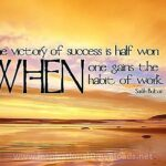 286 Habit of Work by Sarah Bolton Inspirational Quote Graphic